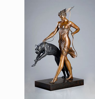 Goddess of the Hunt (traditional patina)